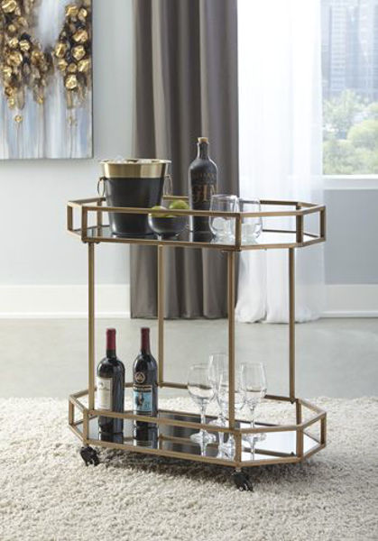 Picture of Bar Cart/Daymont/Gold Finish