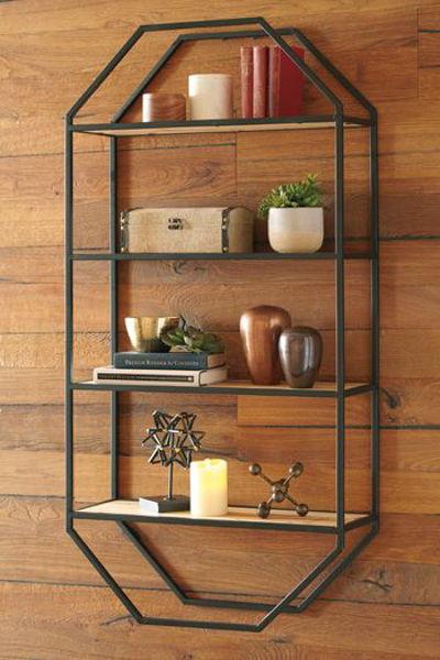 Picture of Wall Shelf/Elea/Black/Natural