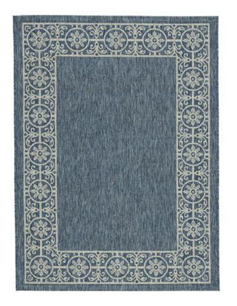Picture of Large Rug/Jeb/Blue/Tan