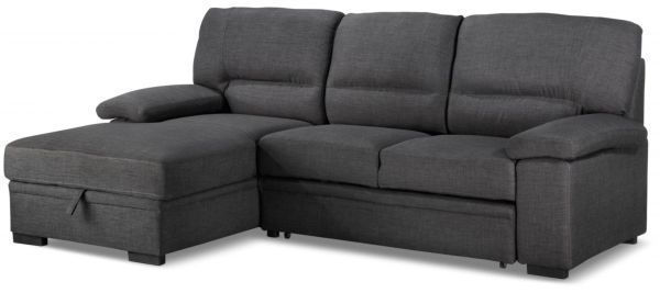 Picture of TESSARO CHARCOAL SECTIONAL W/PULL OUT BED