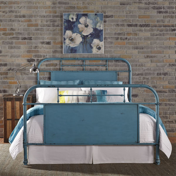 Picture of QUEEN METAL BED FRAME (BLUE)