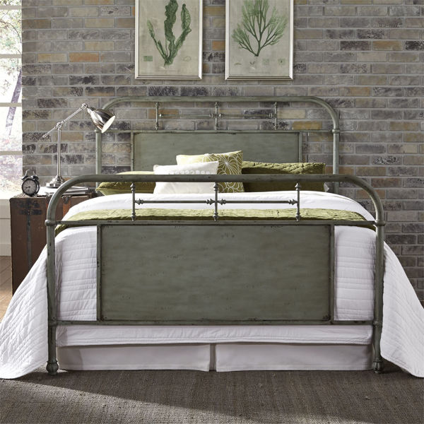 Picture of QUEEN METAL BED FRAME (GREEN)