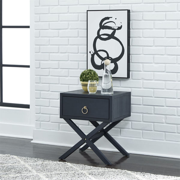 Picture of ACCENT TABLE: MIDNIGHT BLUE