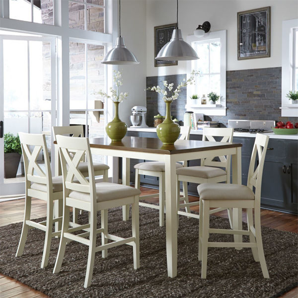 Picture of THORNTON 7 PIECE PUB HEIGHT SET