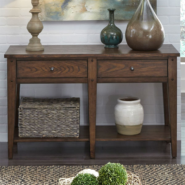 Picture of LAKE HOUSE SOFA TABLE: BROWN