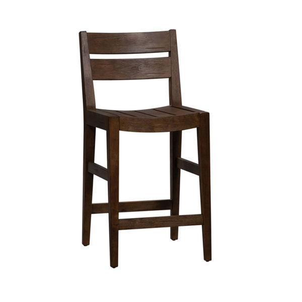 Picture of SLAT BACK COUNTER HEIGHT STOOL